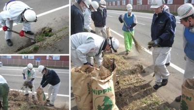 男鹿工場 「船川港湾区域アダプト・ロード・プログラム」の清掃活動を実施