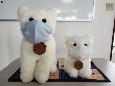 マスク着用でコロナウイルス感染予防中