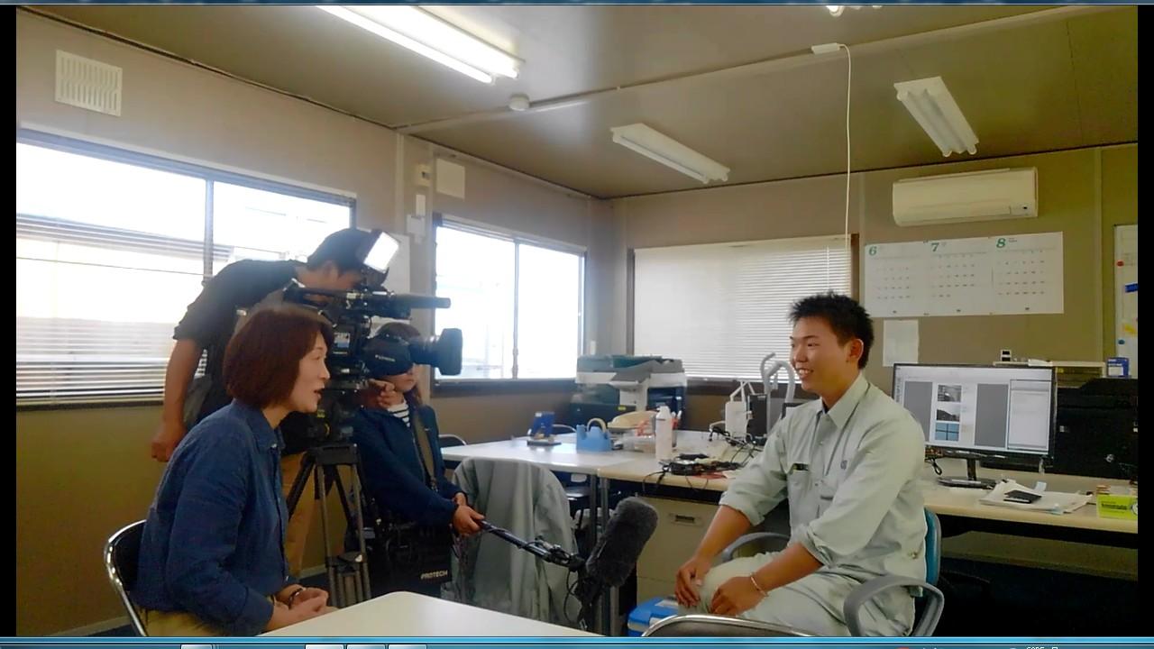 動画サムネイル:株式会社清水組 テレビ取材 T君(入社1年目)