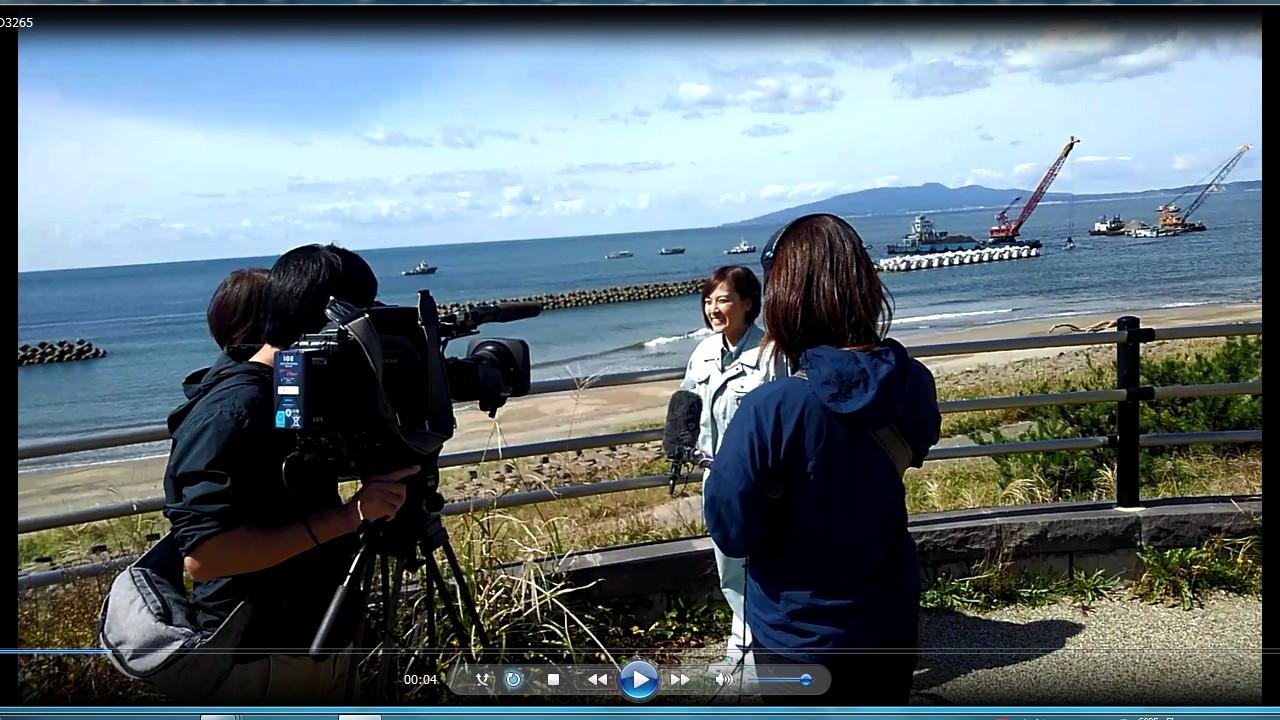 動画サムネイル:株式会社清水組テレビ取材Fさん(女性1級土木施工管理技士)