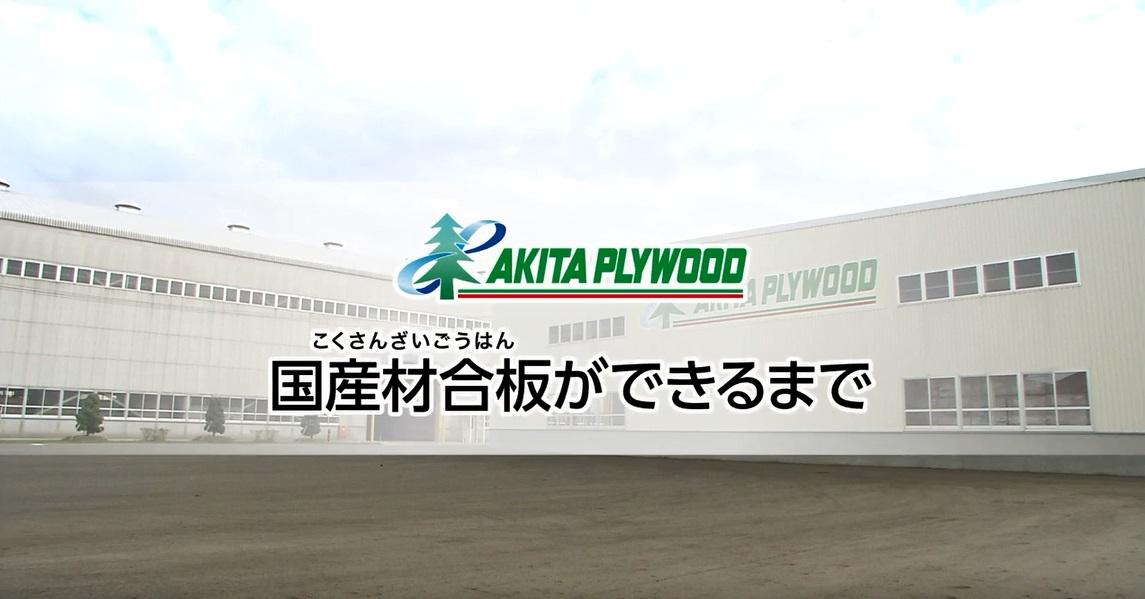 動画サムネイル:秋田プライウッド企業紹介 ④国産材合板ができるまで